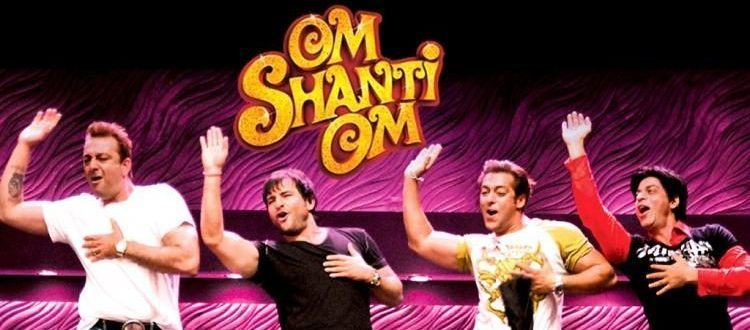 Shahrukh Khan, Salman Khan, Saif Ali Khan, Sanjay Dutt dancing in King Khan Bollywood Movie Om Shanti Om. Free Bollywood Party Games for Family and Friends